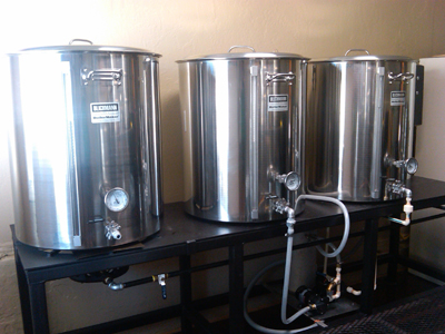 Cocoa Beach Brewing Company's custom 1.5 bbl Brewhouse