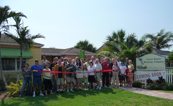 The Cocoa Beach Brewing Company Grand Opening Ribbon Cutting in June 2009